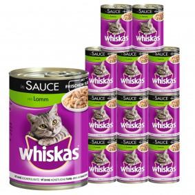 Whiskas Katzenfutter 1+ mit Lamm in Sauce 12x400g