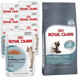 Royal Canin Katzenfutter Hairball Care 24x85g + 400g Trockenfutter gratis
