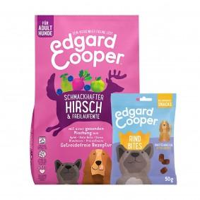 Edgard & Cooper Frischer Hirsch & Freilaufente 12kg + 50g Bites Rind gratis
