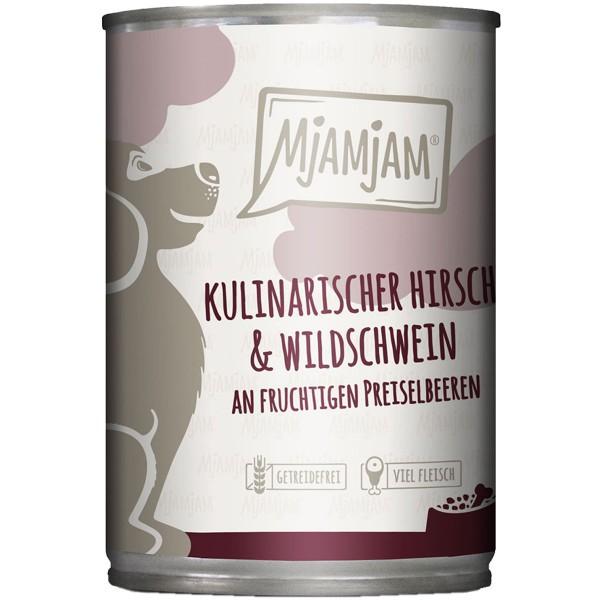 MjAMjAM kulinarischer Hirsch&Wildschwein an Preiselbeeren - 400g