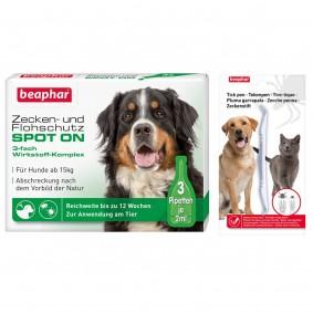 beaphar Spot On Tropfen für große Hunde + Zeckenstift gratis