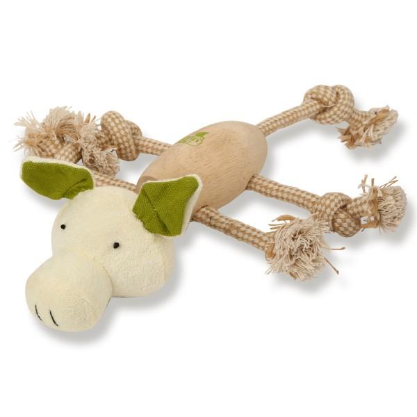 Earthy Pawz Holz Hundespielzeug Schwein