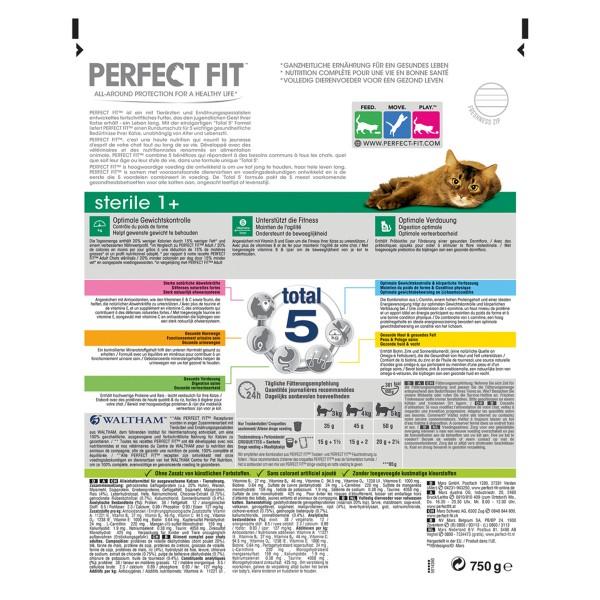 Perfect Fit Katzenfutter Sterile 1+ reich an Huhn 750g