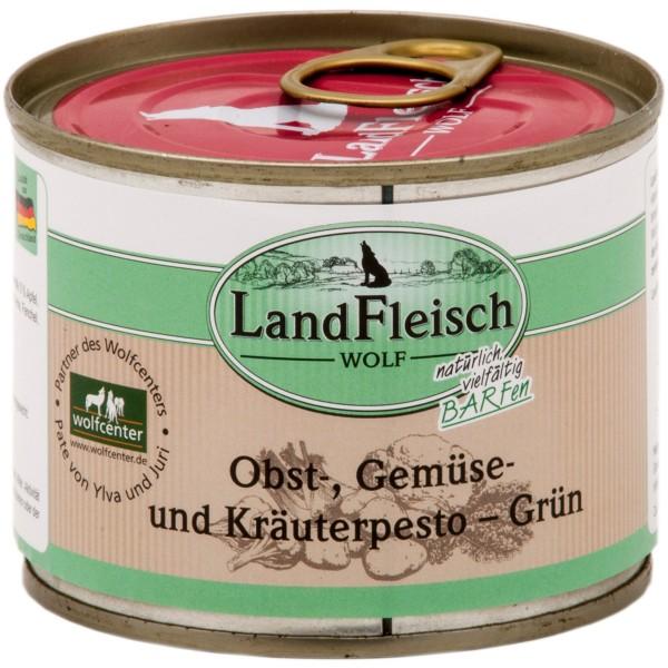 Landfleisch Dog Wolf Pesto Grün