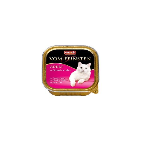 Animonda Katzenfutter Vom Feinsten Adult mit Schwein & Leber 100g