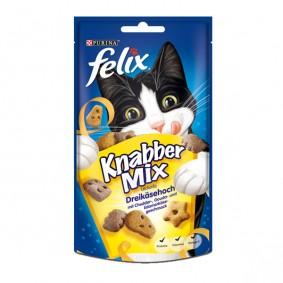 Felix Knabber Mix Katzensnack Dreikäsehoch 60g 2+1 Gratis