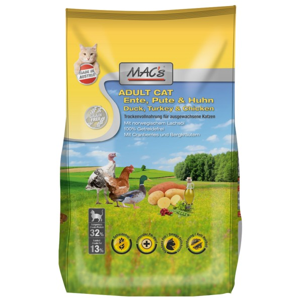 MAC´s Cat MAC´s Adult Ente, Pute & Huhn 300g