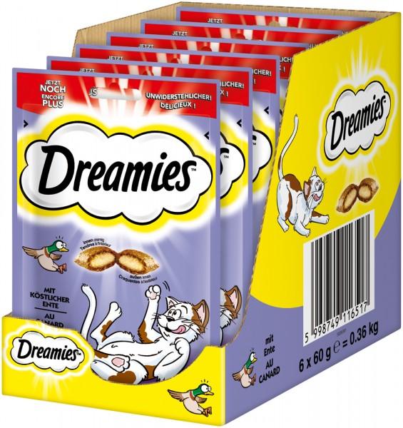 Dreamies Katzensnack mit Ente - 6x60g