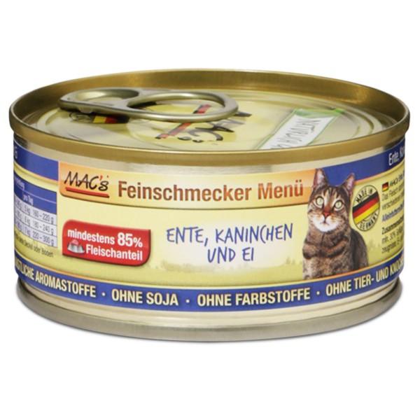 MAC's Cat Katzenfutter Feinschmecker Menü Ente, Kaninchen und Ei