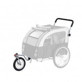 Joggerfunktion für Doggy Liner Paris De Luxe Teflon® grau-schwarz