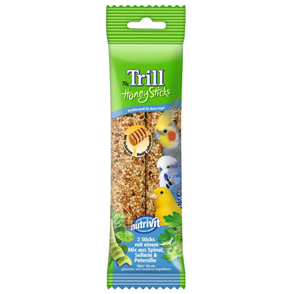 Trill Honig Sticks mit Spinat, Sellerie und Petersilie 70g