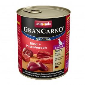 Animonda Hunde-Nassfutter GranCarno Senior Rind und Putenherzen