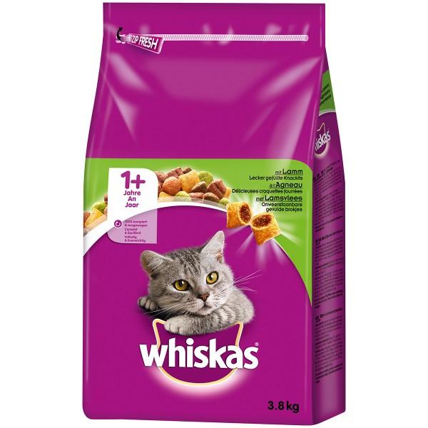 Whiskas Adult 1+ mit Lamm - 2x3,8kg