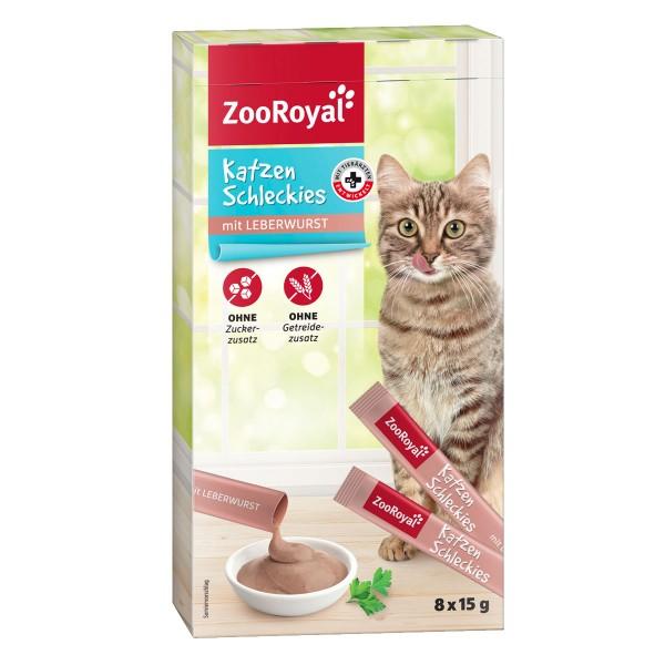ZooRoyal Katzen Schleckies mit Leberwurst 8x15g