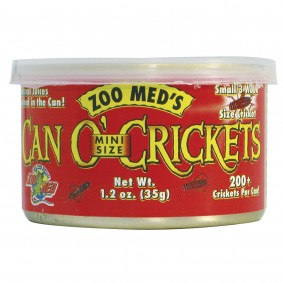 Zoo Med Can o' Crickets Mini Size Grillons 35 g
