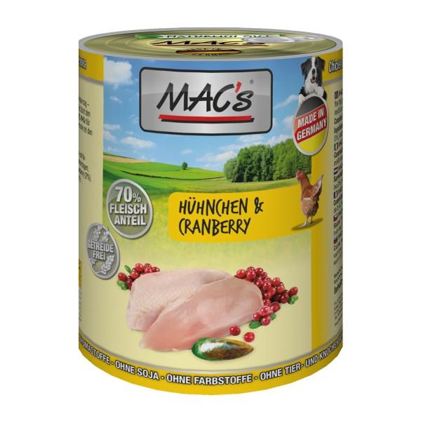 MAC's Dog Hundefutter Hähnchen & Cranberry