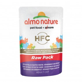 Almo Nature HFC Raw Hühnerbrust und Entenfilet