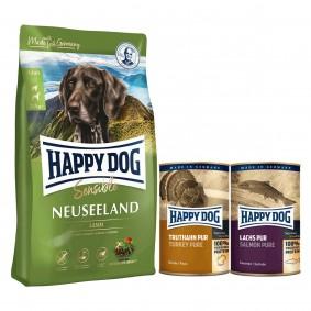 Happy Dog Supreme Sensible Neuseeland 12,5kg + 400g Truthahn + 375g Lachs
