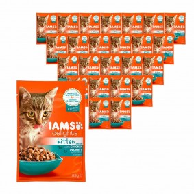 Iams Delights Katzen-Nassfutter in Soße Kitten 24x85g