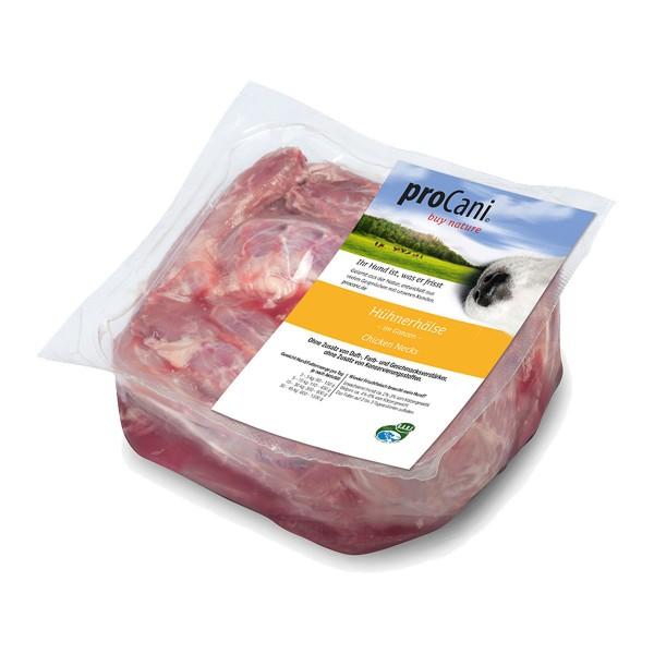 proCani gefrorene Hühnerhälse 14x500g