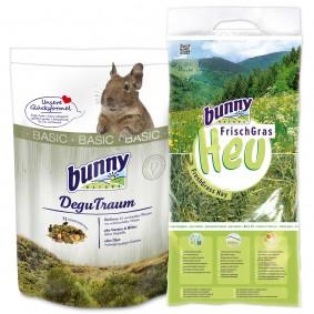 Bunny Allgäuer FrischGras Kleintierheu 3kg plus DeguTraum basic 600g