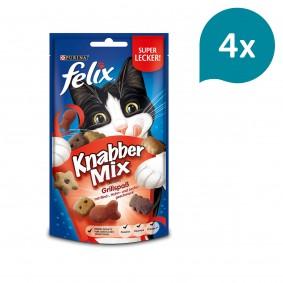 FELIX KnabberMix Grillspaß mit Rind-, Huhn- und Lachsgeschmack