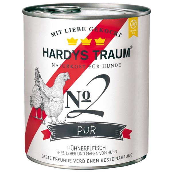 Hardys Traum Nassfutter Pur No. 2 Huhn 6x800g