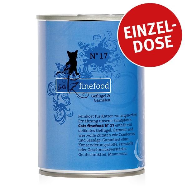 CATZ Finefood Katzen Nassfutter No. 17 Geflügel & Garnele 400g