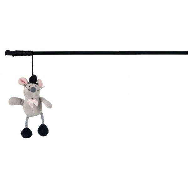 Trixie Spielangel mit Squieky-Zaubermaus 31cm
