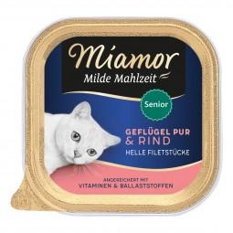 Miamor Milde Mahlzeit Senior Geflügel Pur & Rind
