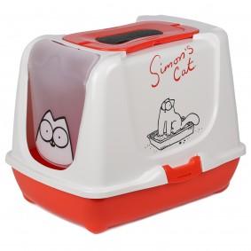 Simon's Cat Katzentoilette rot/weiß