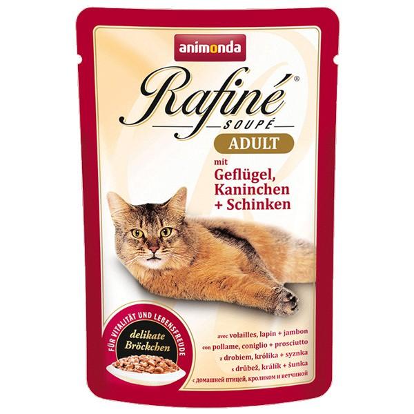 Animonda Rafiné Soupé Adult Geflügel & Kaninchen + Schinken