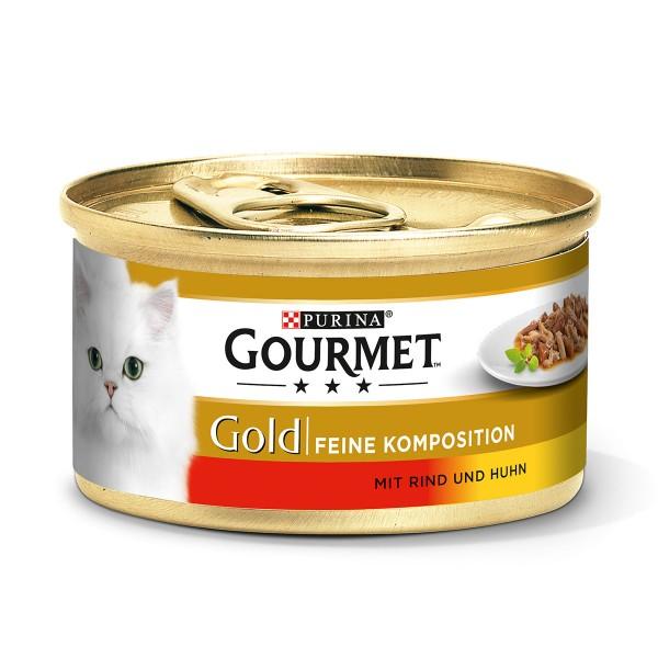 Gourmet Gold Feine Komposition Rind&Huhn