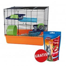 Trixie Hamster- und Kleintierkäfig inkl. Grundausstattung und Trixie Mini Drops Gratis!
