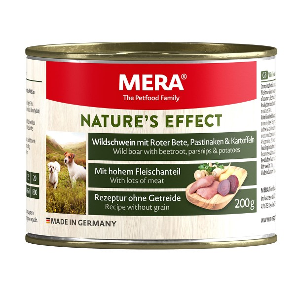 MERA Nature's Effect Hunde-Nassfutter Wildschwein