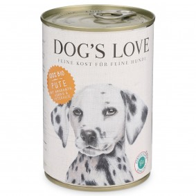 Dog's Love Futter Bio Pute mit Amaranth, Kürbis & Petersilie