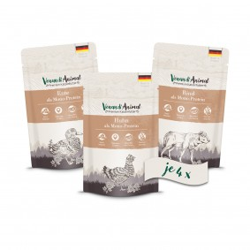 Venandi Animal - Probierpaket I 4xHuhn, 4xEnte, 4xRind