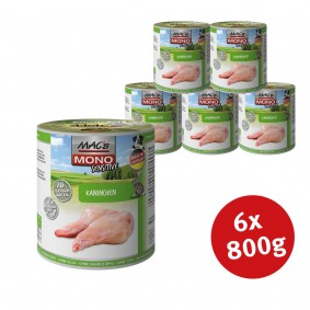 Pro Pet MAC´s Dog Mono Hunde-Nassfutter Sensitive Kaninchen - 6x800g