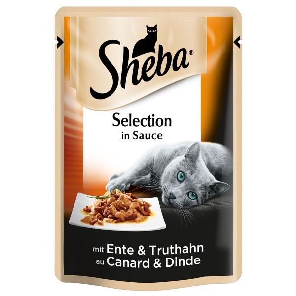 Sheba Katzenfutter Selection in Sauce mit Ente und Truthahn