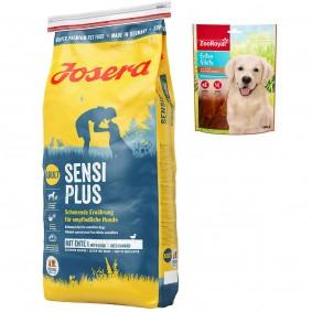 Josera Sensiplus 15kg + Enten-Filets 150g GRATIS