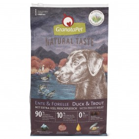 GranataPet Natural Taste – s kachnou a pstruhem