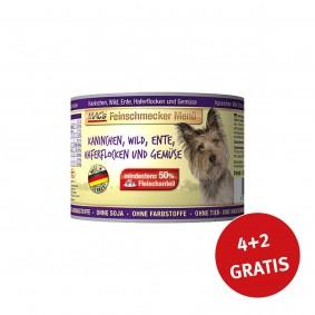 MAC's Dog Feinschmecker Menü Kaninchen, Wild und Ente 200g 4+2 GRATIS