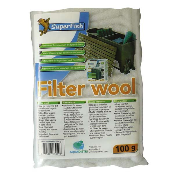 Superfish Filterwatte Weiß