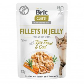 Brit Care Cat Fillets in Jelly with Fine Trout & Cod