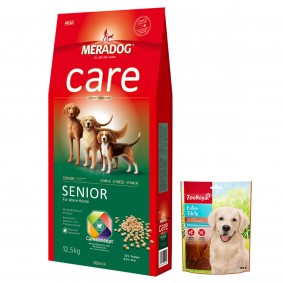 Mera Dog High Premium Senior 2x12,5kg + Enten-Filets 150g GRATIS