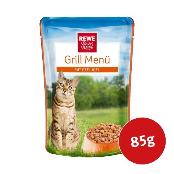 REWE Beste Wahl Katzenfutter Grill Menü Geflügel