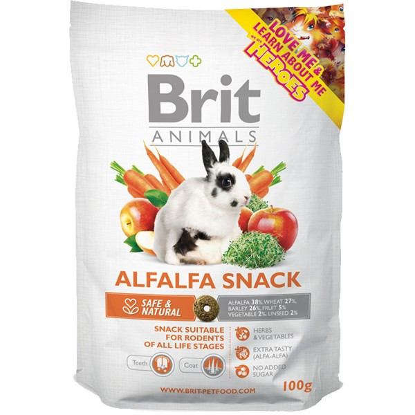 Haustier: Brit Animals Alfalfa Snack 100g
