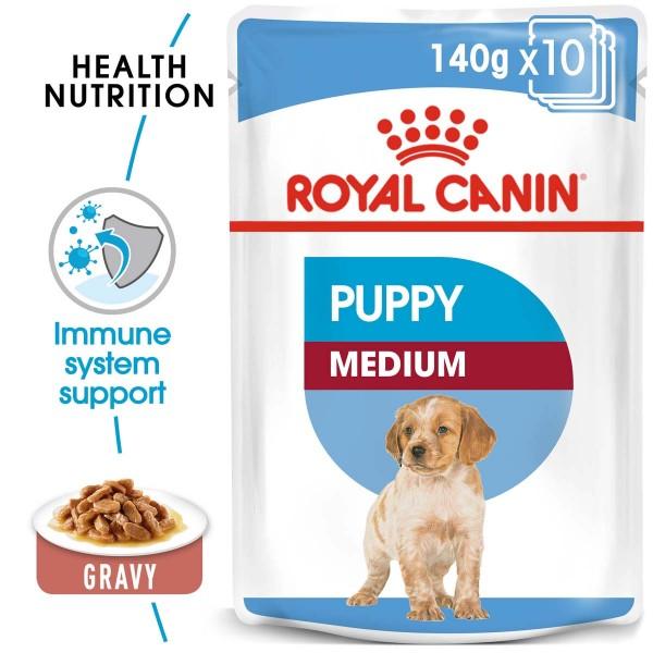 ROYAL CANIN MEDIUM PUPPY Welpenfutter nass für mittelgroße Hunde 10x140g