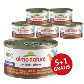 Almo Nature HFC Cuisine Dog Rind mit Kartoffeln und Erbsen 5+1 gratis