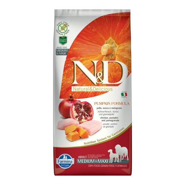 N&D Dog Kürbis Huhn & Granatapfel Adult Medium Maxi 12 kg